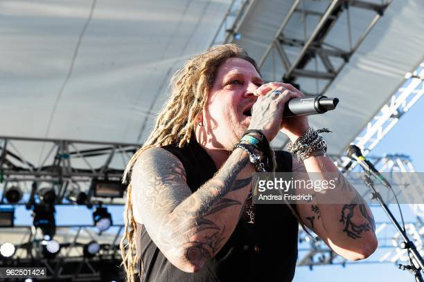 Jonne Järvelä of Korpiklaani performs onboard the cruise liner 'Independence of the Seas' during the '70000 Tons of Metal' Heavy Metal Cruise...