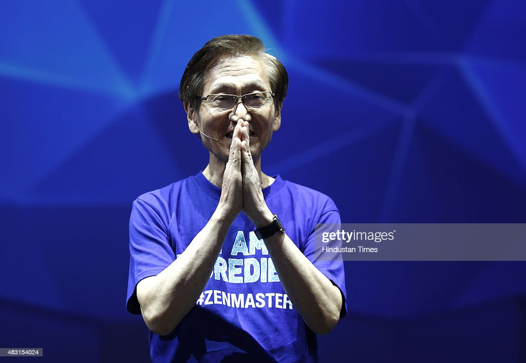 Jonney Shih Global Chairman of Asus during the Asus Zenfestival 2015 at JLN Stadium on August 6 2015 in New Delhi India Taiwanese handset maker...