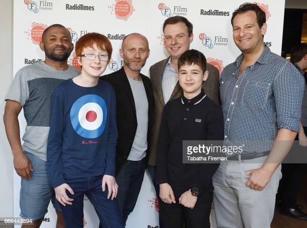 Jonnie Kimmins Joe Talbot Conor McNamara Louis Dunn and Dan Freedman attend the BFI Radio Times TV Festival at BFI Southbank on April 9 2017 in...