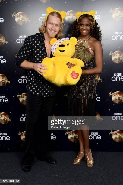 Jonnie Peacock and Oti Mabuse attend the Strictly Come Dancing for BBC Children in Need photocall at Elstree Studios on November 4 2017 in...