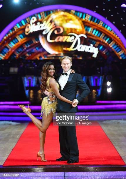 Jonnie Peacock and Oti Mabuse during the Strictly Come Dancing Live Tour Launch held at Arena BirminghamÂ