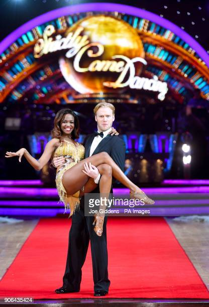 Jonnie Peacock and Oti Mabuse during the Strictly Come Dancing Live Tour Launch held at Arena Birmingham PRESS ASSOCIATION Photo Picture date...