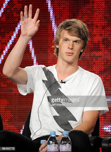 """Jonnie Penn of """"The Buried Life"""" speaks during the MTV Networks portion of the 2009 Summer Television Critics Association Press Tour at the Langham..."""