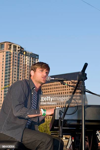 AUSTIN UNITED STATES MARCH 19 Jonnie Russell of Cold War Kids performs on stage at the Auditorium Shore's Lake the SXSW Music Conference on March...