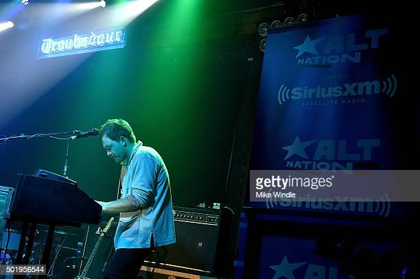 Jonnie Russell of Cold War Kids performs onstage during a private concert for SiriusXM subscribers on December 18 2015 in West Hollywood California