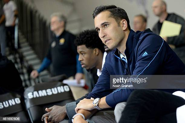Jonnie West watches the Canton Charge play against the Santa Cruz Warriors during the 2015 NBA DLeague Showcase presented by Samsung at the Kaiser...