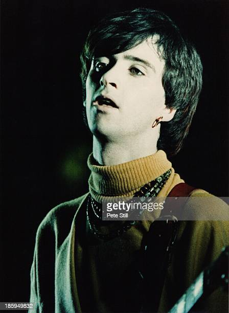 Jonnny Marr of The Smiths performs on stage at Hammersmith Palais on March 12th 1984 in London England