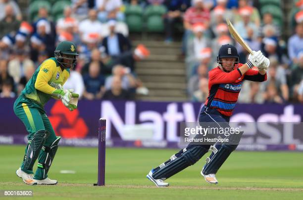 Jonny Bairstow of England bats during the 2nd NatWest T20 International match between England and South Africa at The Cooper Associates County Ground...