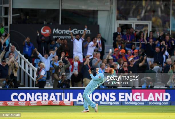 Jonny Bairstow of England celebrate after winning the Cricket World Cup during the Final of the ICC Cricket World Cup 2019 between New Zealand and...