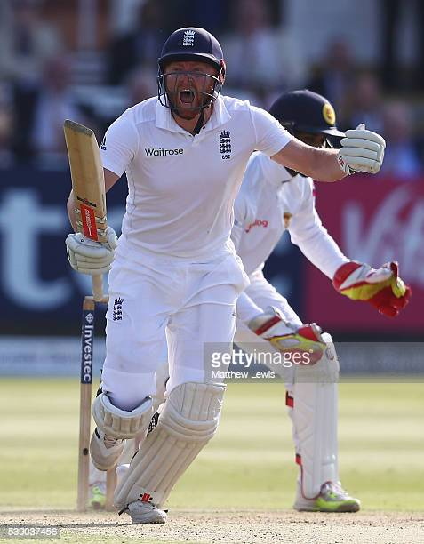 Jonny Bairstow of England celebrates his century during day one of the 3rd Investec Test match between England and Sri Lanka at Lord's Cricket Ground...
