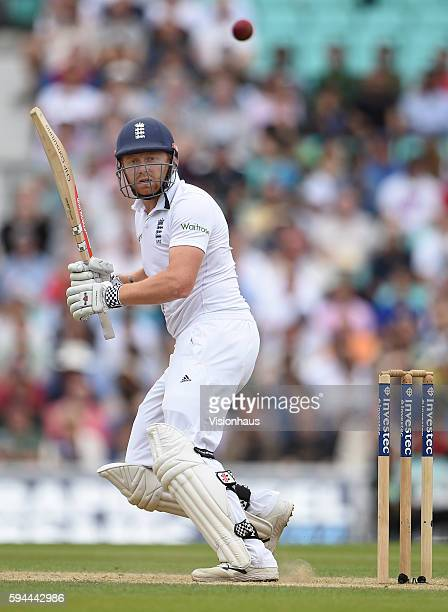 Jonny Bairstow of England during day four of the fourth Investec test match between England and Pakistan at The Kia Oval on August 14 2016 in London...