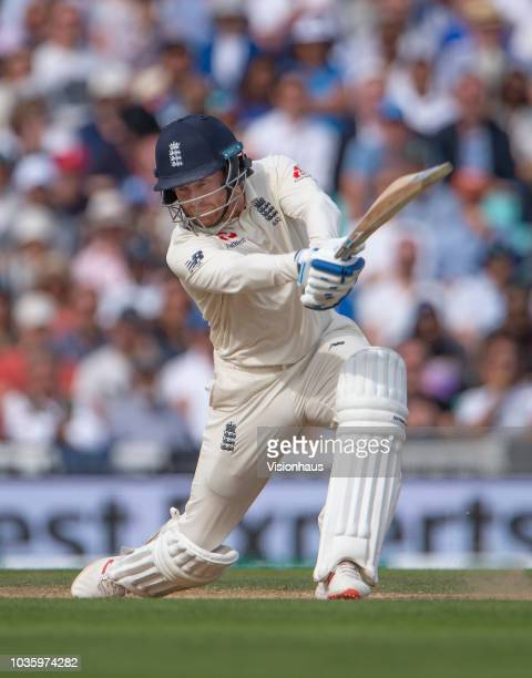 Jonny Bairstow of England during the 5th Specsavers Test Match between England and India at The Kia Oval on September 10 2018 in London England