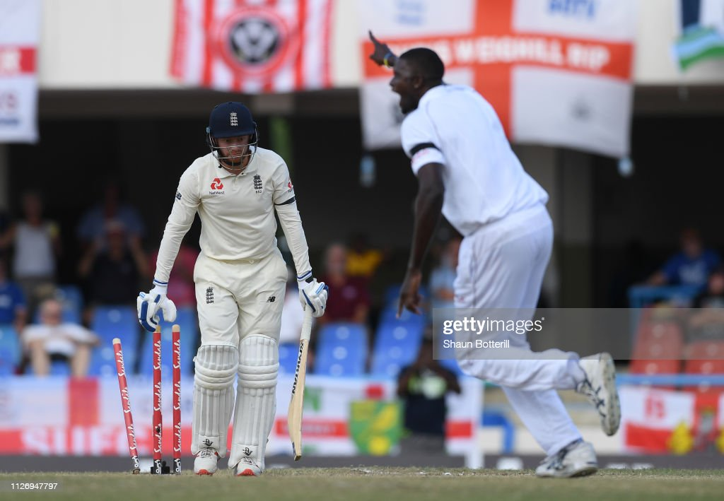 West Indies v England 2nd Test - Day Three : News Photo