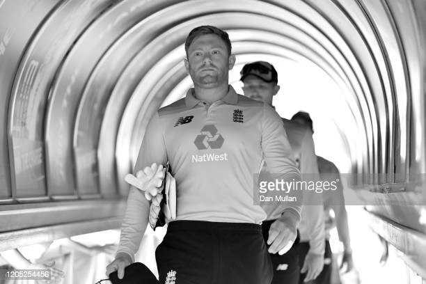 Jonny Bairstow of England makes his way down the tunnel prior to the 3rd One Day International match between South Africa and England at Wanderers...
