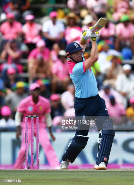 Jonny Bairstow of England plays a shot during the 3rd One Day International match between England and South Africa on February 09 2020 in...