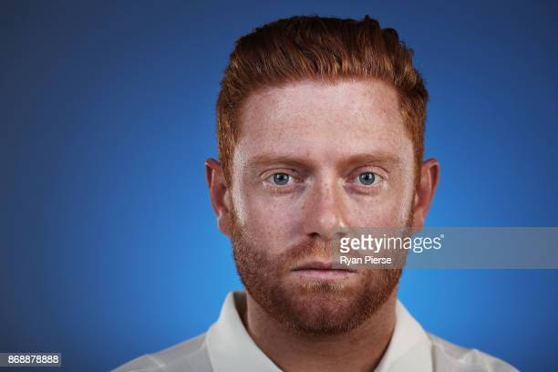 Jonny Bairstow of England poses during the 2017/18 England Ashes Squad portrait session at the WACA on November 1, 2017 in Perth, Australia.