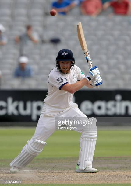 Jonny Bairstow of Yorkshire bats during day two of the Specsavers County Championship division one match between Lancashire and Yorkshire at Emirates...