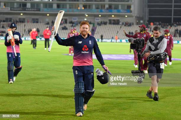 Jonny Baistow of England acknowledges the crowd's applause at the end of the 5th Royal London One Day International between England and West Indies...