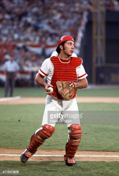 Jonny Bench of the Cincinnati Reds and National League AllStars in action against the American League AllStars during Major League Baseball AllStar...