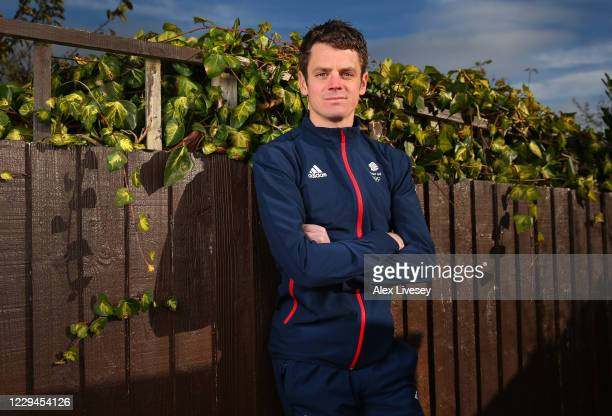 Jonny Brownlee of Great Britain poses for a photo to mark the official announcement of the triathletes selected to Team GB for the Tokyo 2020 Olympic...