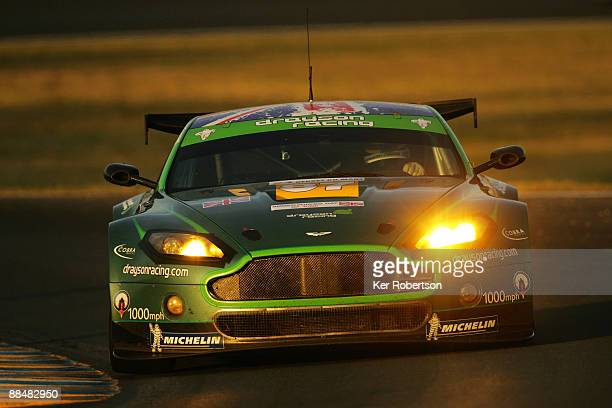 Jonny Cocker of Great Britain drives the Drayson Racing Aston Martin during the 77th running of the Le Mans 24 Hour race at the Circuit des 24 Heures...