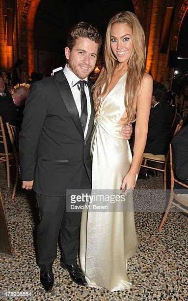 Jonny Dodge and Cassandra Harris attend the 2015 FIA Formula E Visa London ePrix Gala Dinner at the Natural History Museum on June 28, 2015 in...