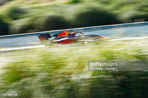 Jonny Edgar of Great Britain and Carlin Buzz Racing drives at Circuito de Jerez on May 12, 2021 in Jerez de la Frontera, Spain.