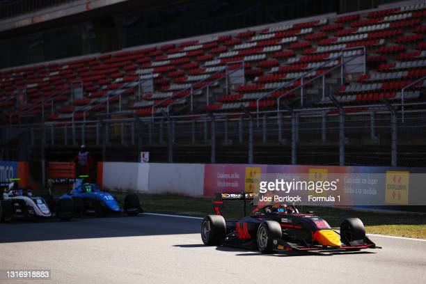 Jonny Edgar of Great Britain and Carlin Buzz Racing leads the field off the line at the start during race 1 of Round 1:Barcelona of the Formula 3...