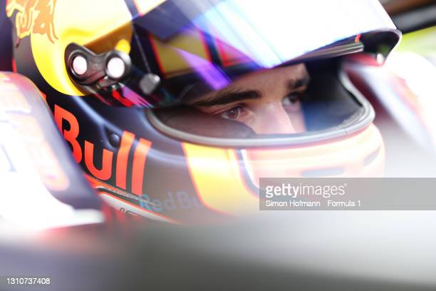 Jonny Edgar of Great Britain and Carlin prepares to drive during Day Two of Formula 3 Testing at Red Bull Ring on April 04, 2021 in Spielberg,...