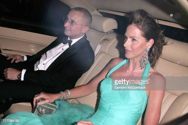 Jonny Elichaoff and Trinny Woodall during Wedding Celebration of Elizabeth Hurley to Arun Nayer Arrivals at Sudeley Castle in Winchcombe Great Britain