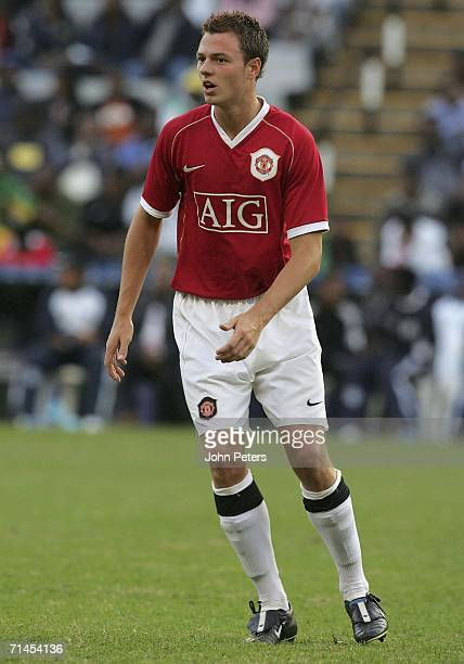 Jonny Evans of Manchester United in action during the match against Orlando Pirates as part of their preseason tour of South Africa at the ABSA...