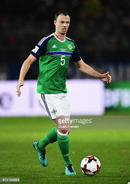 Jonny Evans of Northen Ireland in action during the FIFA 2018 World Cup Qualifier between Germany and Northern Ireland at HDIArena on October 11 2016...