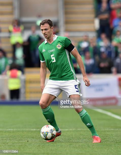 Jonny Evans of Northern Ireland during the UEFA Nations League B group three match between Northern Ireland and BosniaHerzegovina at Windsor Park on...