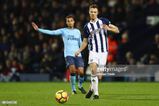 Jonny Evans of West Bromwich Albion during the Premier League match between West Bromwich Albion and Newcastle United at The Hawthorns on November 28...