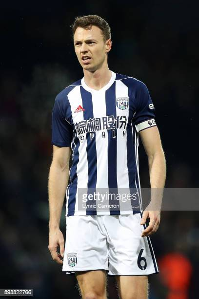 Jonny Evans of West Bromwich Albion during the Premier League match between West Bromwich Albion and Everton at The Hawthorns on December 26 2017 in...