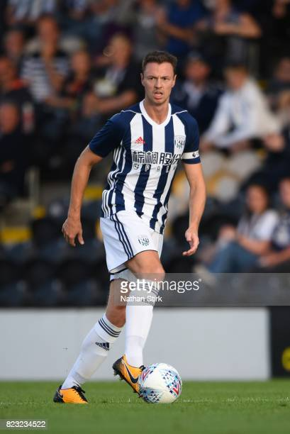 Jonny Evans of West Bromwich Albion in action during the pre season friendly match between Burton Albion and West Bromwich Albion at Pirelli Stadium...