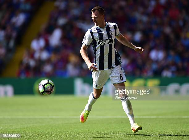 Jonny Evans of West Bromwich Albion in action during the Premier League match between Crystal Palace and West Bromwich Albion at Selhurst Park on...