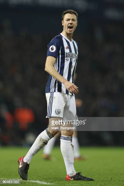 Jonny Evans of West Bromwich Albion in action during the Premier League match between West Bromwich Albion and Brighton and Hove Albion at The...