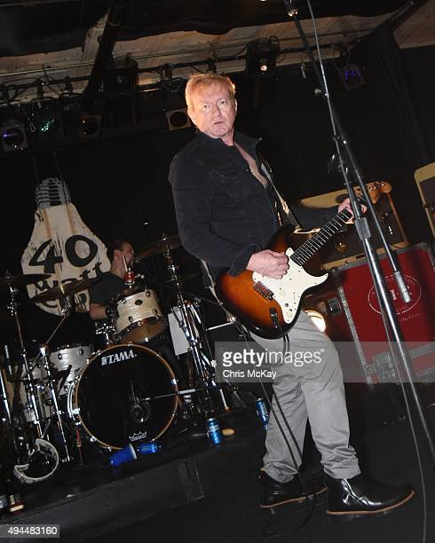 Jonny Finnegan and Andy Gill of Gang Of Four perform at 40 Watt Club on October 26 2015 in Athens Georgia