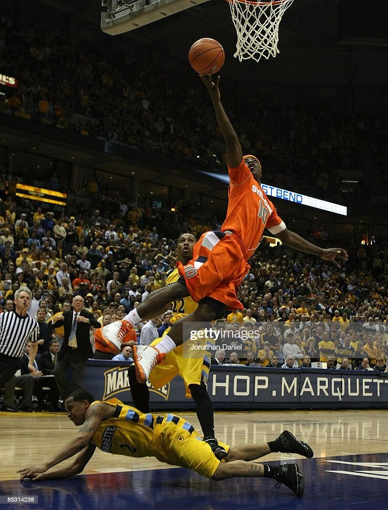 Jonny Flynn Of The Syracuse Orange Drives To The Basket Over