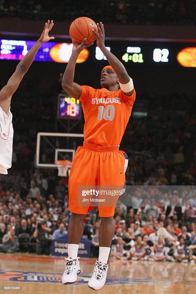 Jonny Flynn Of The Syracuse Orange Makes A Jumpshot Against