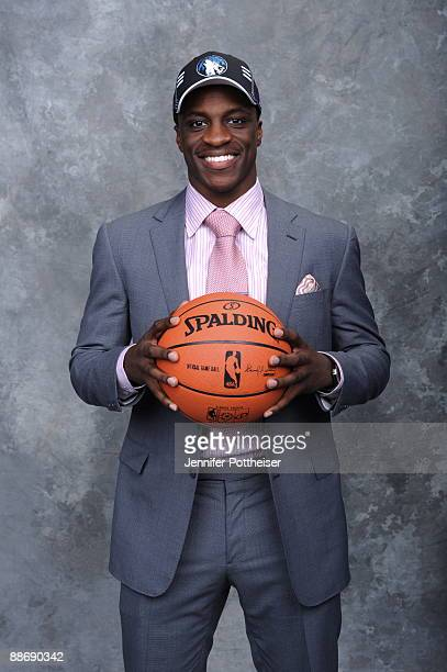 Jonny Flynn poses for a portrait during the 2009 NBA Draft at The WaMu Theatre at Madison Square Garden on June 25 2009 in New York New York NOTE TO...