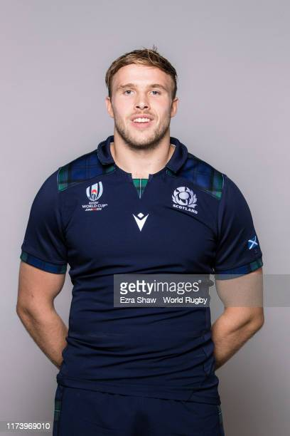 Jonny Gray of Scotland poses for a portrait during the Scotland Rugby World Cup 2019 squad photo call on on September 11, 2019 in Nagasaki, Japan.