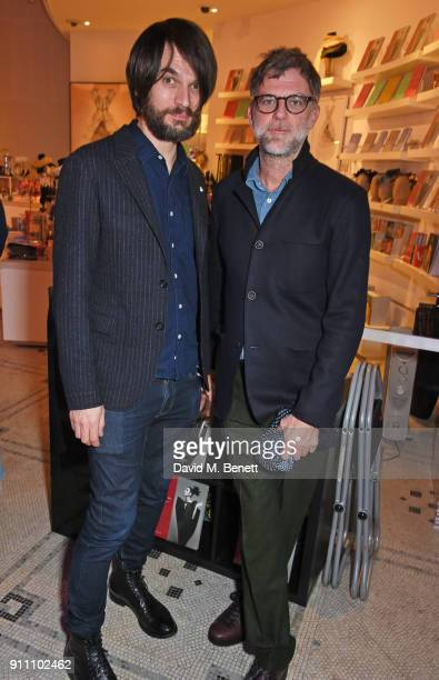 Jonny Greenwood and director Paul Thomas Anderson attend an exclusive screening of 'Phantom Thread' hosted by Universal Pictures in partnership with...
