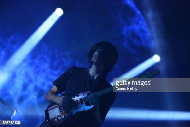 Jonny Greenwood of Radiohead performs at 3Arena Dublin on June 20 2017 in Dublin Ireland