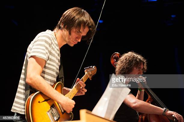 Jonny Greenwood of Radiohead performs on stage with the London Contemporary Orchestra at The Roundhouse on July 28 2014 in London United Kingdom
