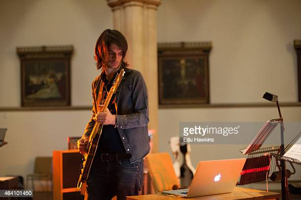 Jonny Greenwood performs on stage on February 21 2015 in Oxford United Kingdom