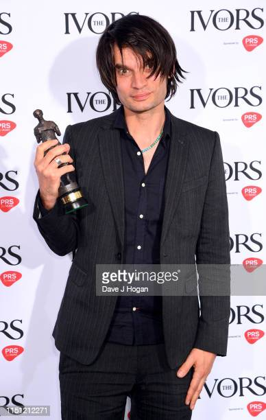 Jonny Greenwood wins Best Original Film Score at The Ivors 2019 at Grosvenor House on May 23, 2019 in London, England.