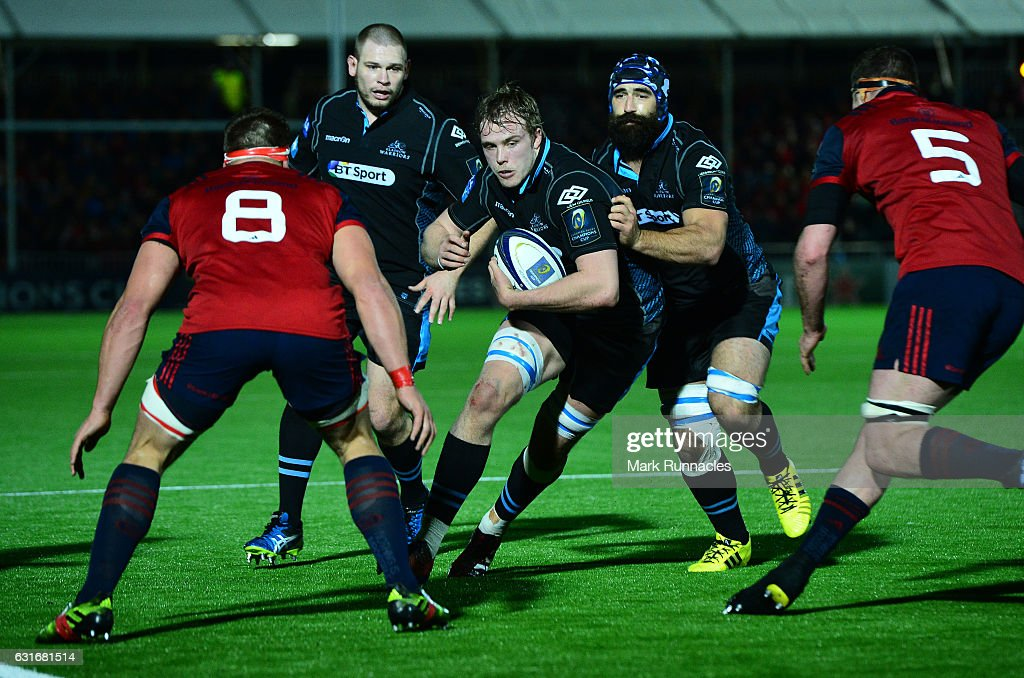 Glasgow Warriors v Munster Rugby - European Rugby Champions Cup : News Photo