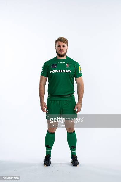 Jonny Harris of London Irish poses for a picture during the BT PhotoShoot at Sunbury Training Ground on August 27 2014 in Sunbury England